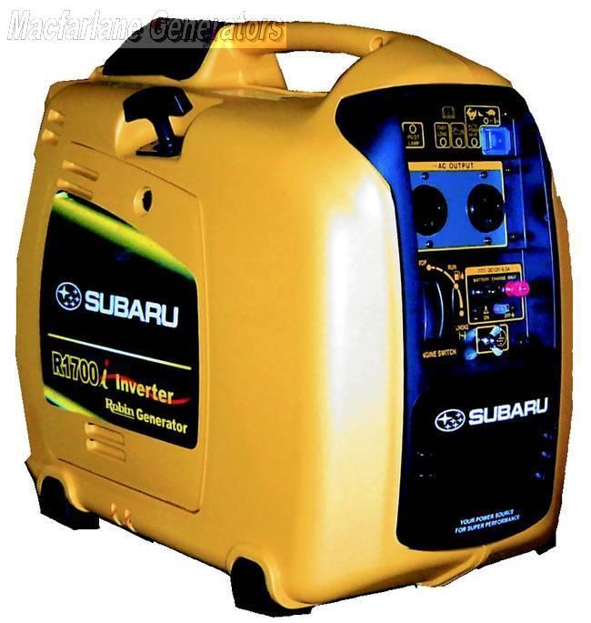 Subaru portable silent generator r1700i for Yamaha inverter generator vs honda
