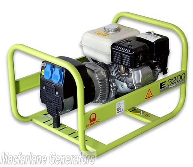 2 9kva Pramac Portable Generator  E3200